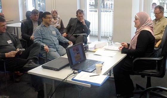 Blick in einen Seminarraum während einer Veranstaltung